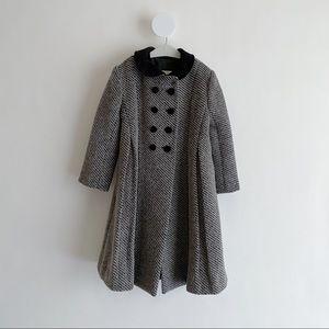 Isabel Garreton • New York Black Gray Wool Coat